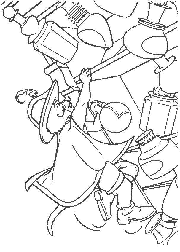 Раскраска Кот уронил полку Скачать Персонаж из мультфильма.  Распечатать ,Шрек,