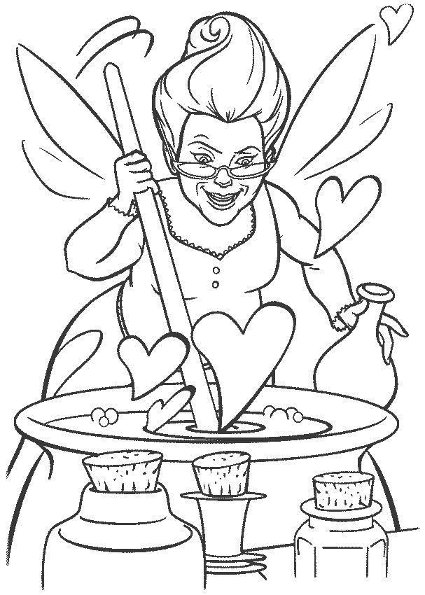 Раскраска Любовное зелье Скачать Персонаж из мультфильма.  Распечатать ,Шрек,
