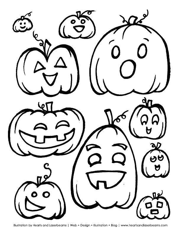 Раскраска тыква на хэллоуин Скачать Поиск предметов.  Распечатать ,Найди предметы,