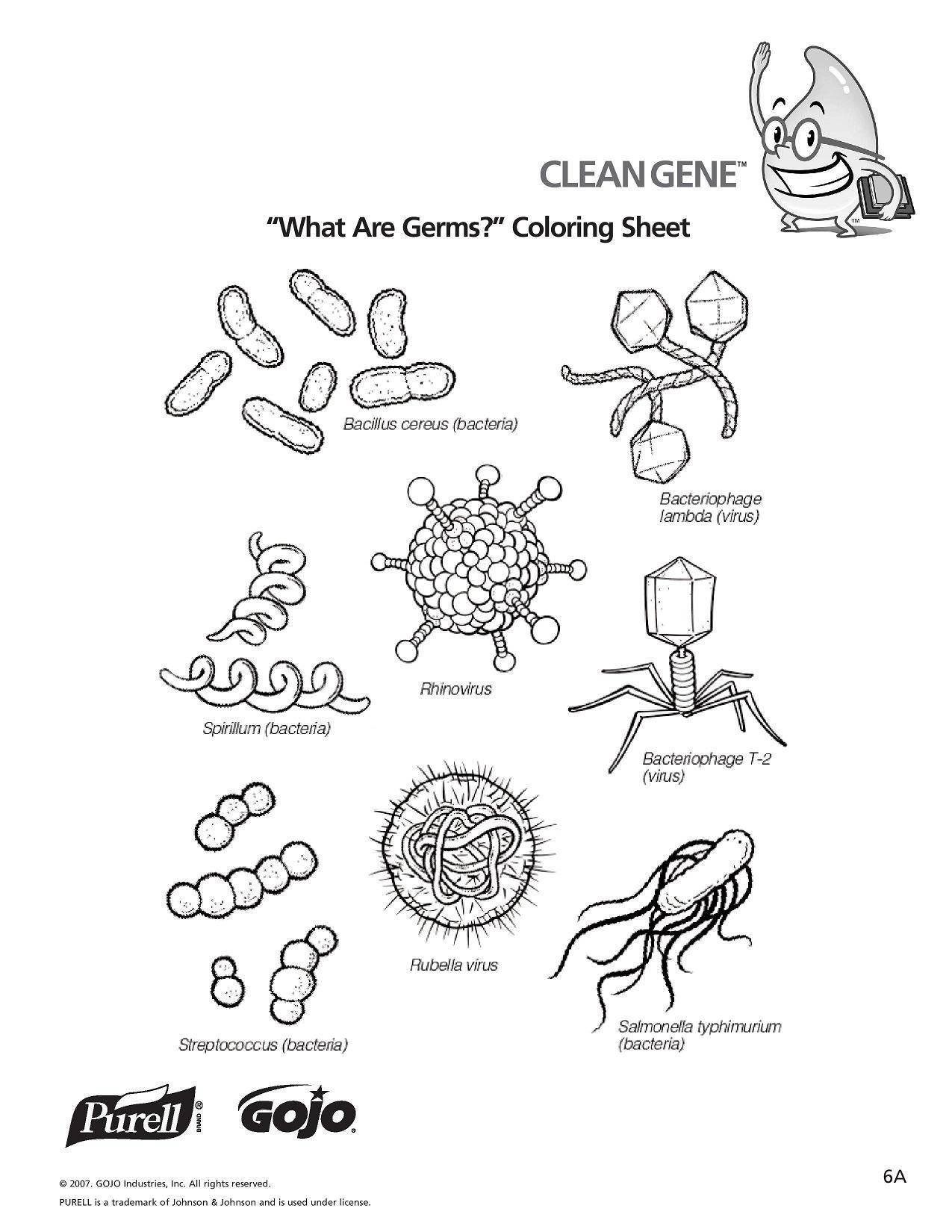 Раскраска Разные микробы Скачать ,мокробы, грязь,.  Распечатать