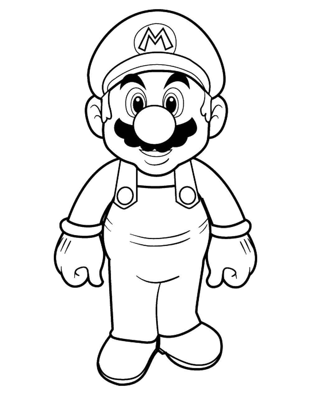Раскраска Супер марио. Скачать Марио, игры, сега.  Распечатать ,марио,