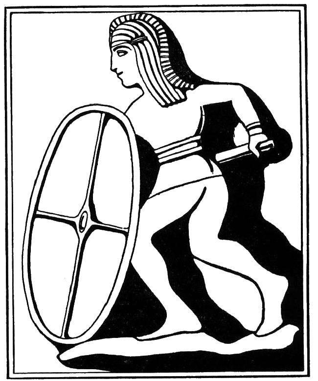 Раскраска Древний рисунок Скачать Деньги.  Распечатать ,Деньги,
