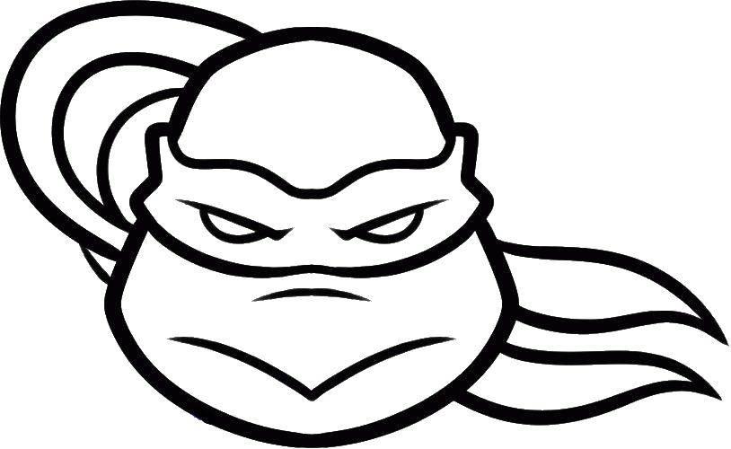 Раскраска Маска черепахи Скачать Комиксы, Черепашки Ниндзя.  Распечатать ,черепашки ниндзя,