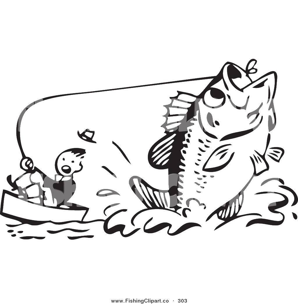 Раскраска Огромная рыба и рыбак Скачать рыбалка, рыбак, рыба.  Распечатать ,рыбалка,