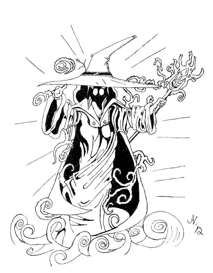 Раскраска ведьма Скачать собака, цветок, узоры.  Распечатать ,собаки,