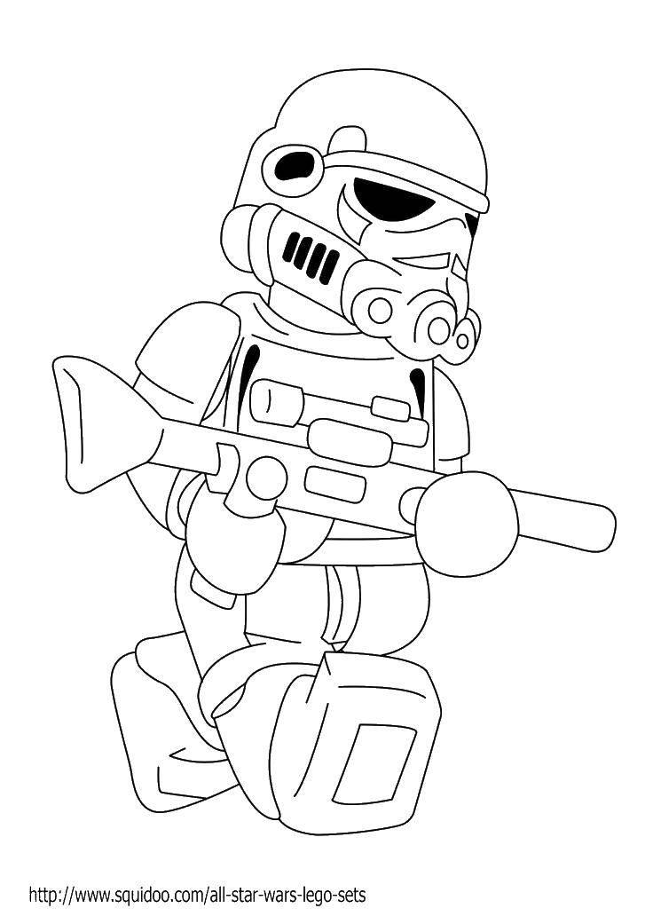 Раскраска Звездные войны, лего. Скачать Конструктор, Лего, Звездные Войны.  Распечатать ,Лего,