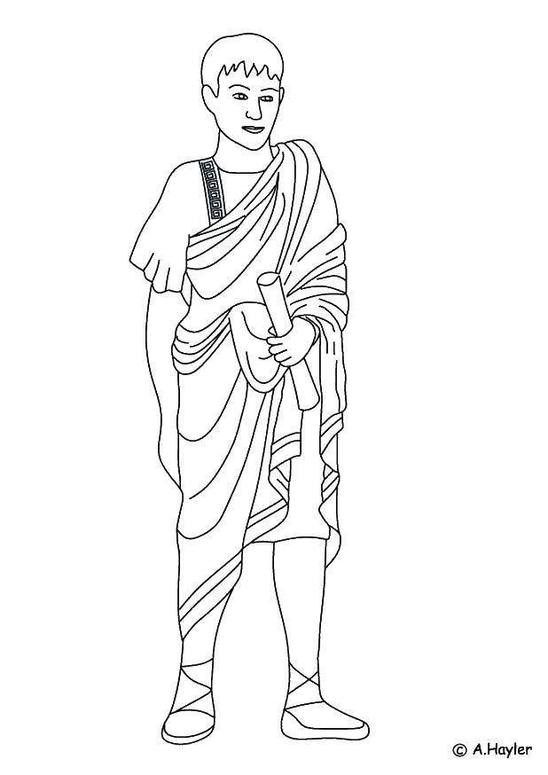 Название: Раскраска Древний римлянин. Категория: Люди. Теги: римляне, Рим.