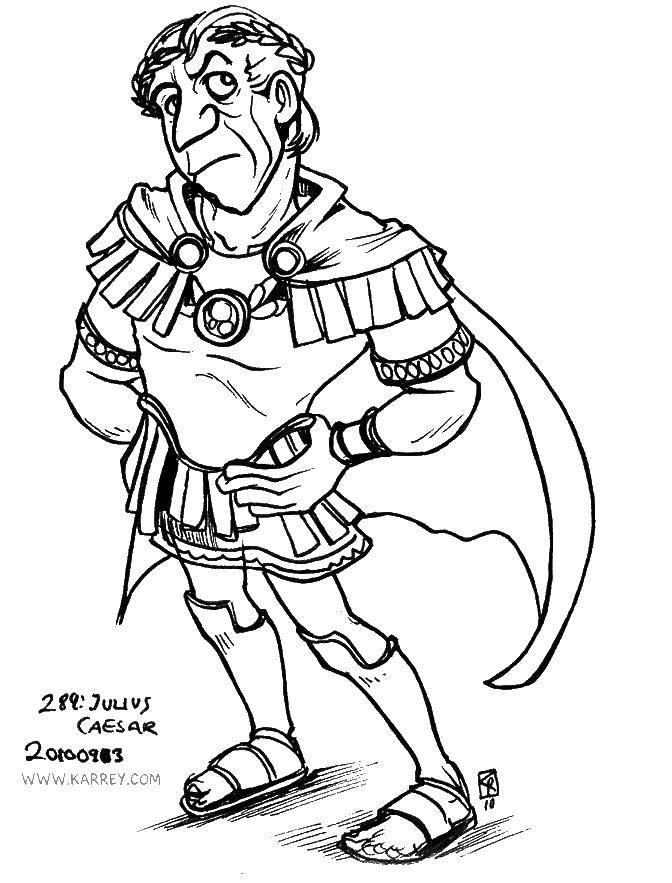Online Coloring Pages Julius Coloring Page Julius Caesar People