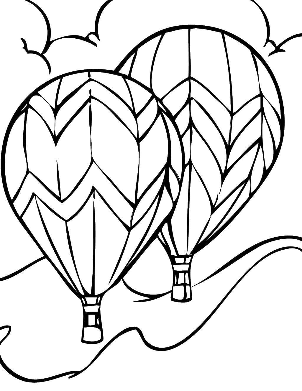 Раскраска воздушный шар Скачать животные, собачка, Рождество.  Распечатать ,животные,