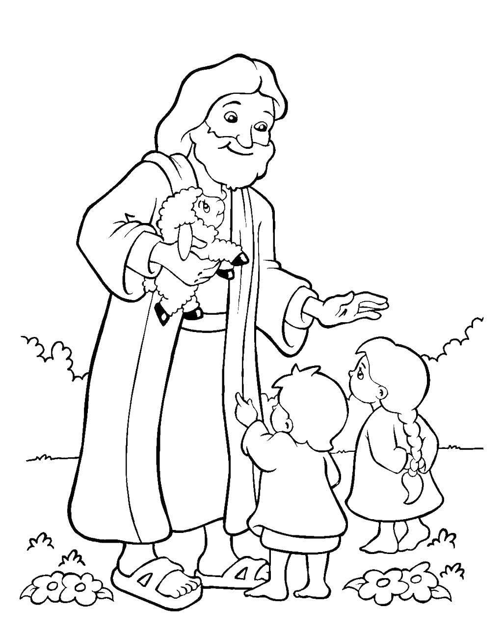 Раскраска библия Скачать ,лист, тетрадь, линейка,.  Распечатать