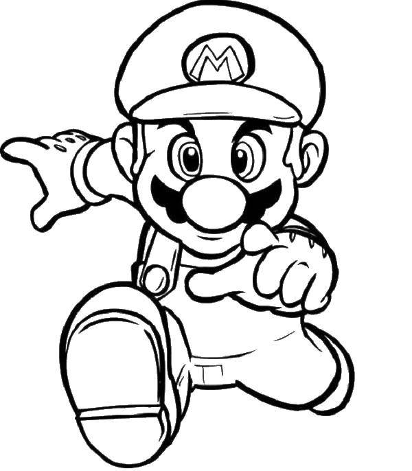 Раскраска Марио Скачать марио, персонажи, игра, Супер Марио.  Распечатать ,марио,