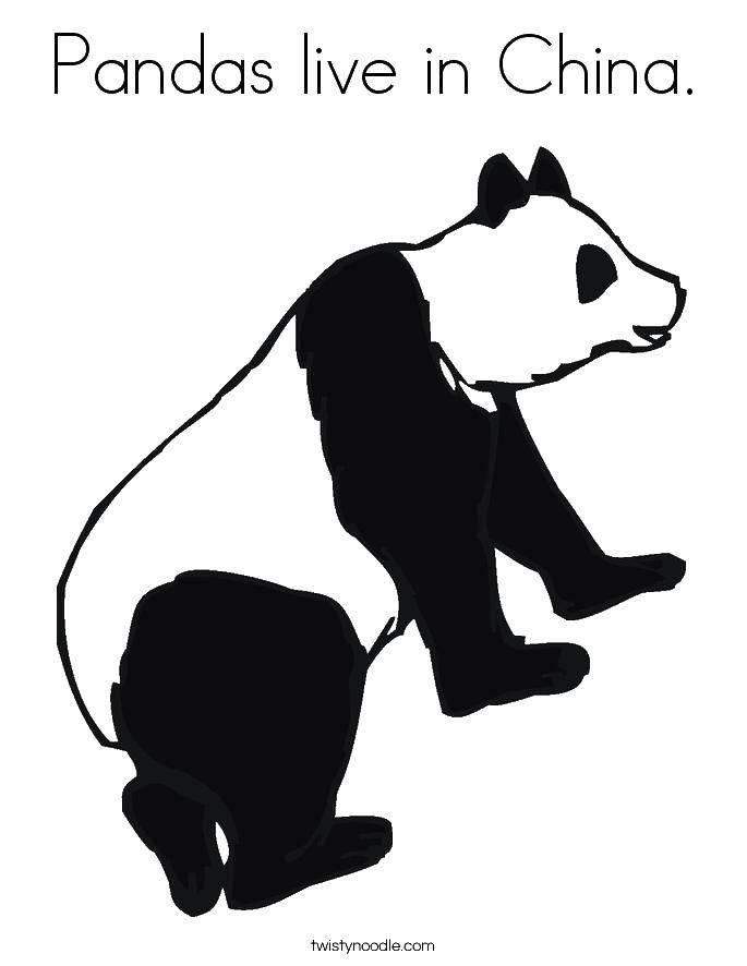 Название: Раскраска Панда живет в китае. Категория: Китай. Теги: китай, панда, китай.