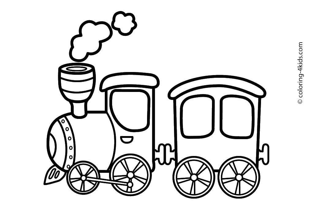 раскраски раскраска паровозик паровоз скачать распечатать