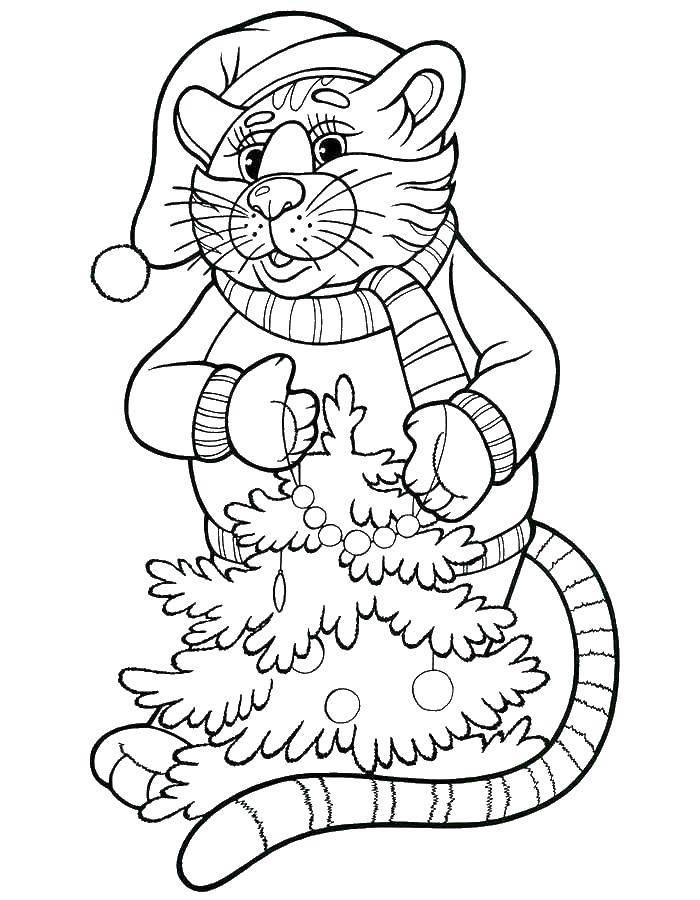 Раскраска Рождество Скачать ,мальчик, девочка, кость,.  Распечатать