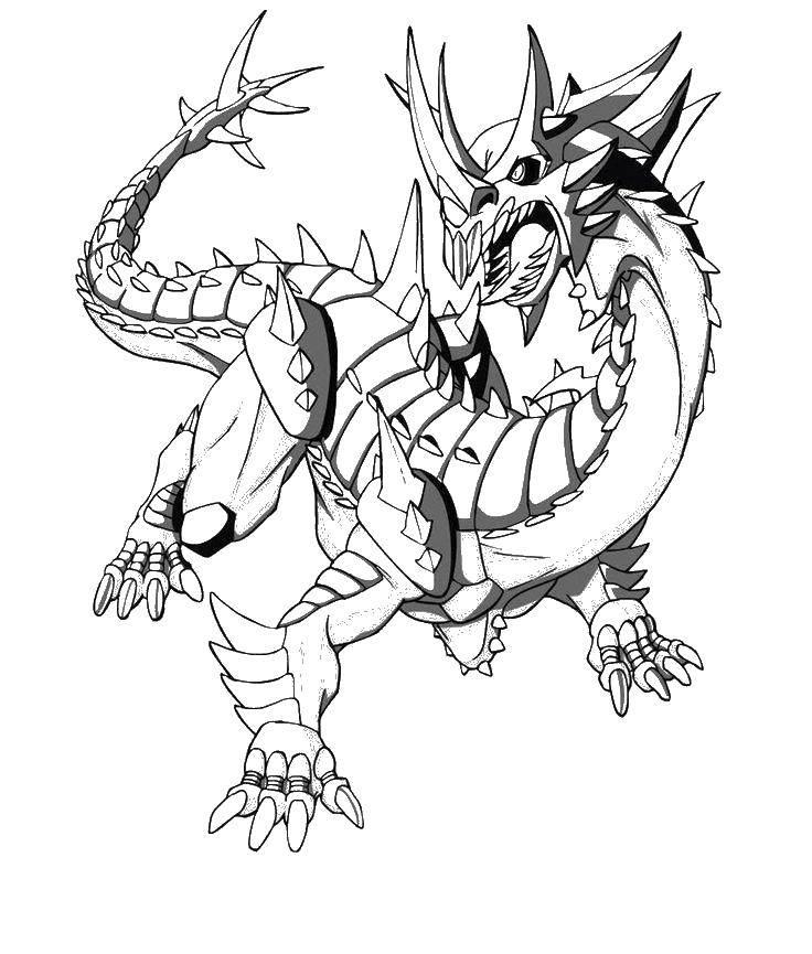 Раскраска Дракон трансформер. Скачать трансформер, драконы, мультфильмы.  Распечатать ,трансформеры,