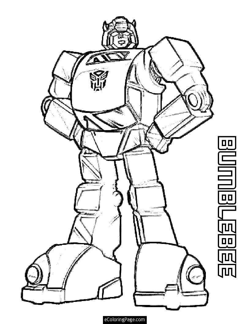 Раскраска Крутой трансформер. Скачать трансформеры, роботы, мультфильмы.  Распечатать ,трансформеры,