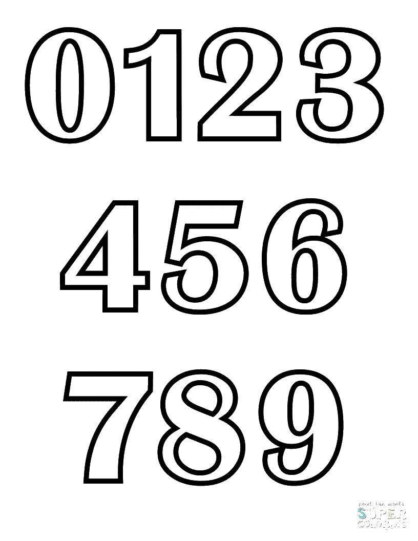Раскраска Цифорки Скачать цифры, счет, числа.  Распечатать ,Цифры,
