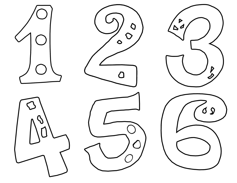 Раскраска Цифры от 1 до 6 Скачать цифры, номера, числа.  Распечатать ,Цифры,