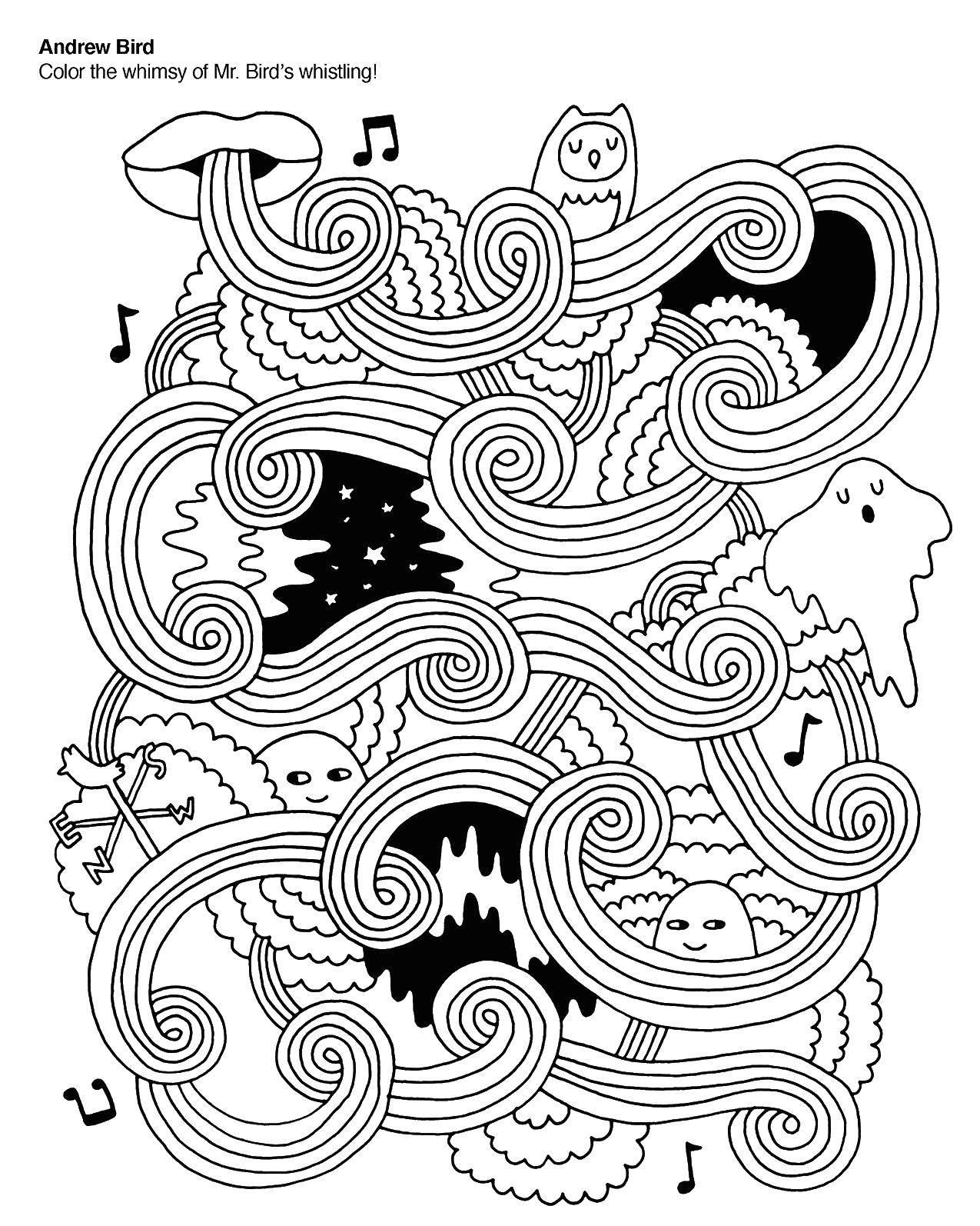 Раскраска Узоры время приключений Скачать Персонаж из мультфильма, Время Приключений .  Распечатать ,Время Приключений,