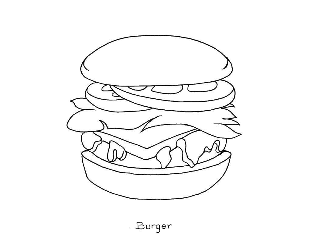 Coloring big burger category the food tags food fast food burger