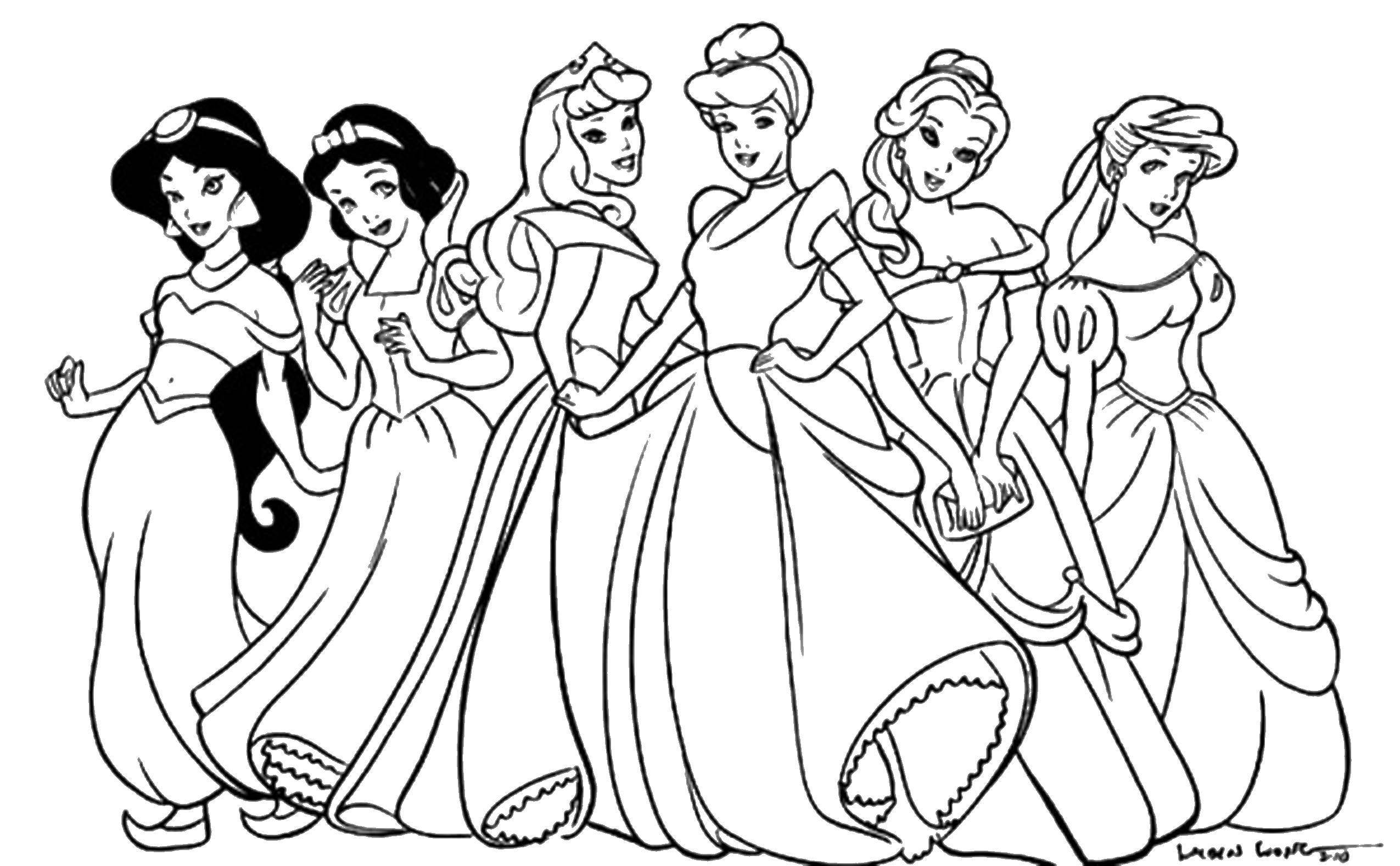 - Online Coloring Pages Coloring Page Shallow Princess Types Of