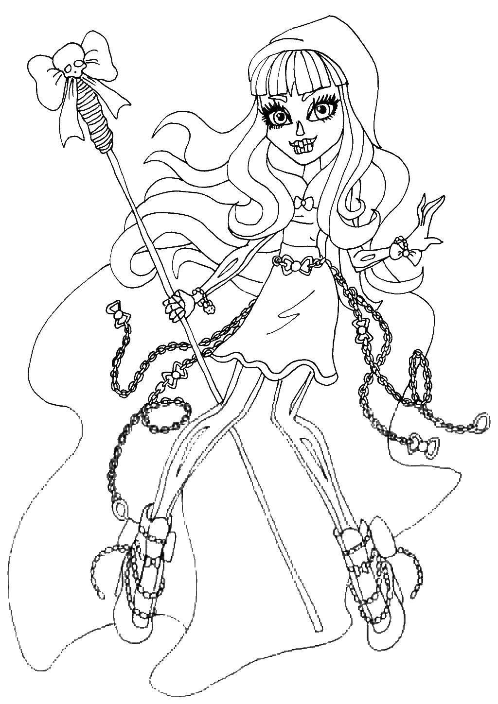 Monster High Skelita coloring page | Free Printable Coloring Pages | 1449x1024