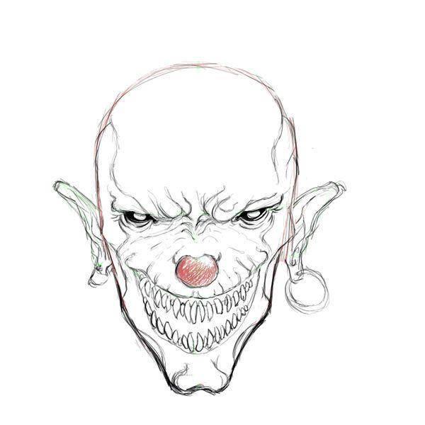 раскраски клоун раскраска страшный клоун хэллоуин