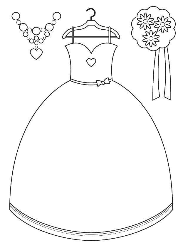 Раскраска свадебные платья Скачать ,Свадьба, платье, жених, невеста,.  Распечатать