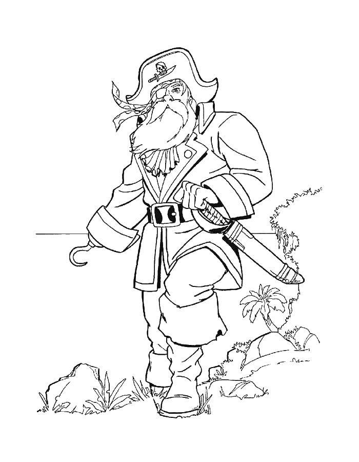 Раскраска Пираты Скачать .  Распечатать