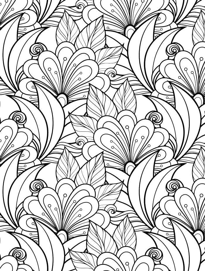Раскраска Красивые цветы Скачать Антистресс, цветочки.  Распечатать ,Антистресс,