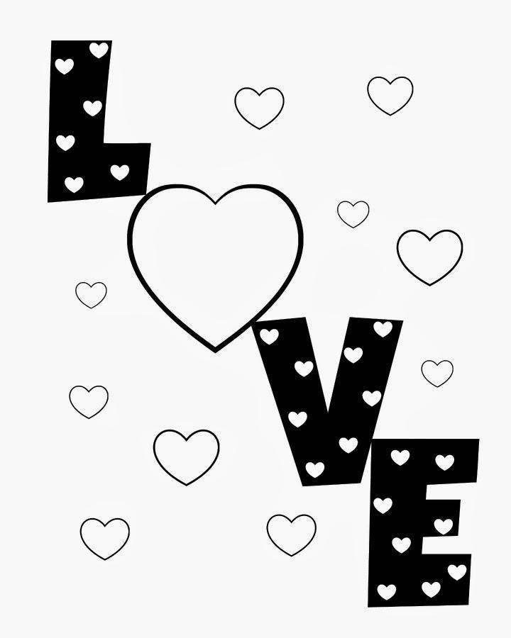 Раскраска Любовь♥♥♥ Скачать День Святого Валентина, любовь, сердце.  Распечатать ,Я тебя люблю,