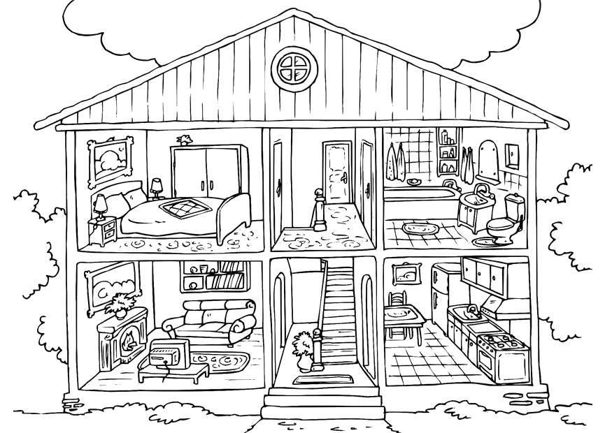 Раскраска Раскраски дом Скачать ,Дом, здание,.  Распечатать