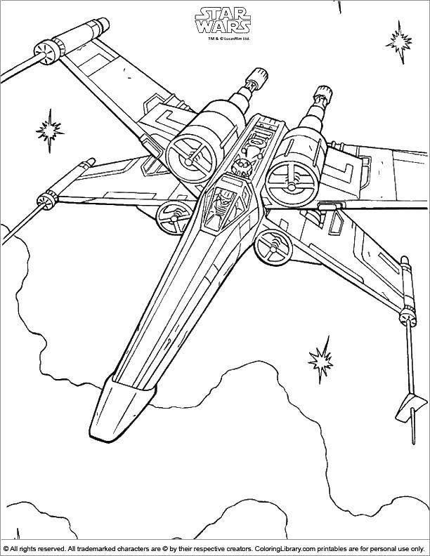 Раскраска Космический корабль Скачать космический корабль, космос, звездные войны.  Распечатать ,космические корабли,