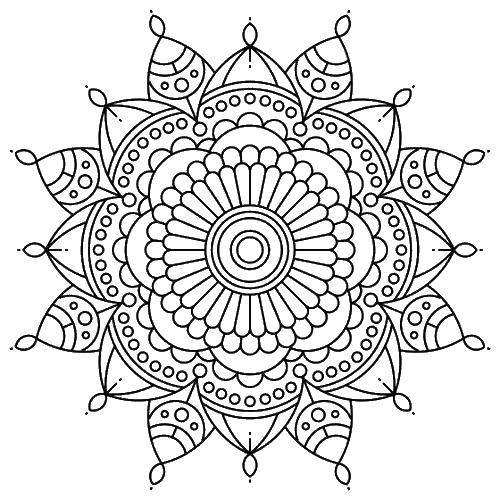 Раскраска Цветок узор Скачать антистресс, узоры, цветы.  Распечатать ,Антистресс,