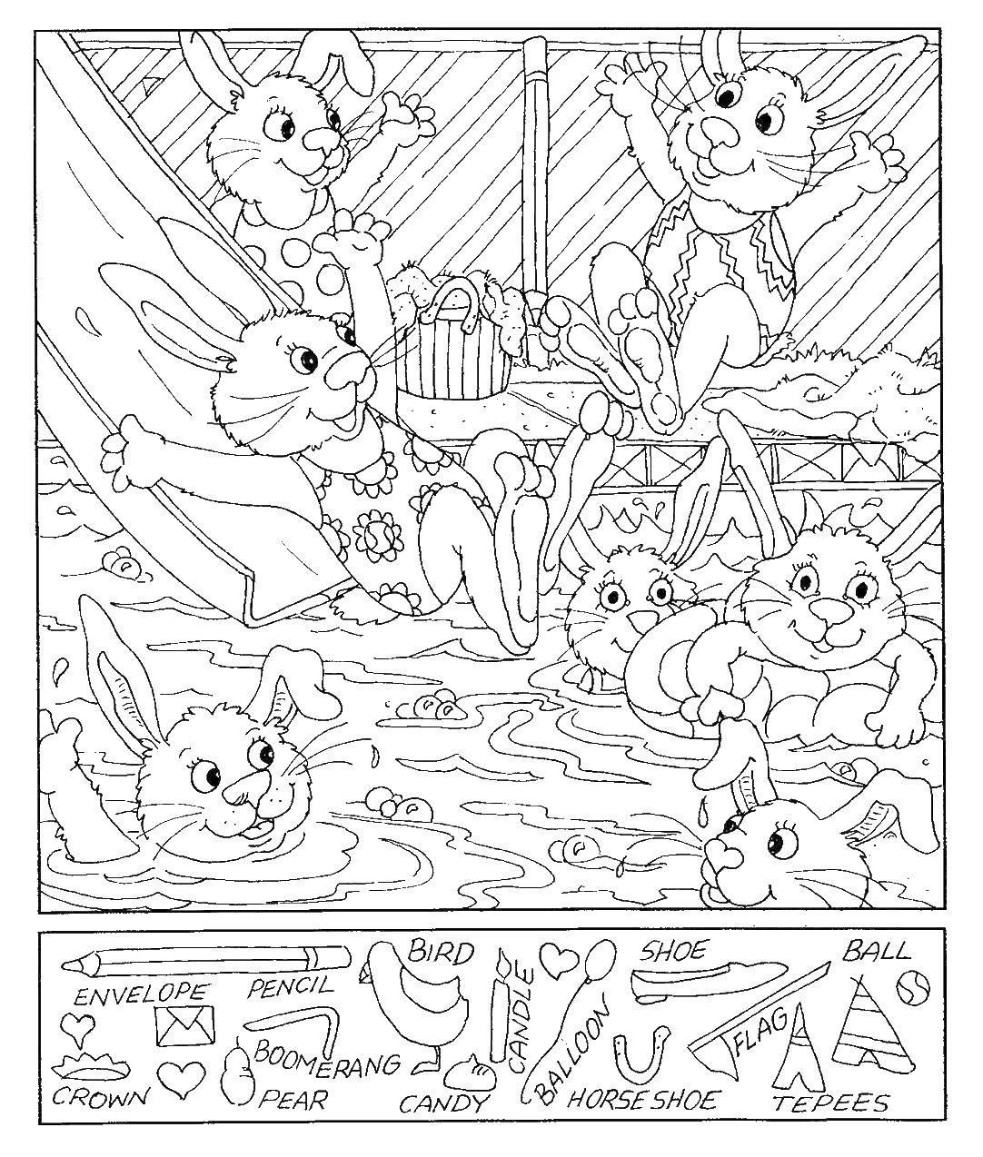 Online Coloring Pages Picnic Coloring Bunnies On A Picnic Find What