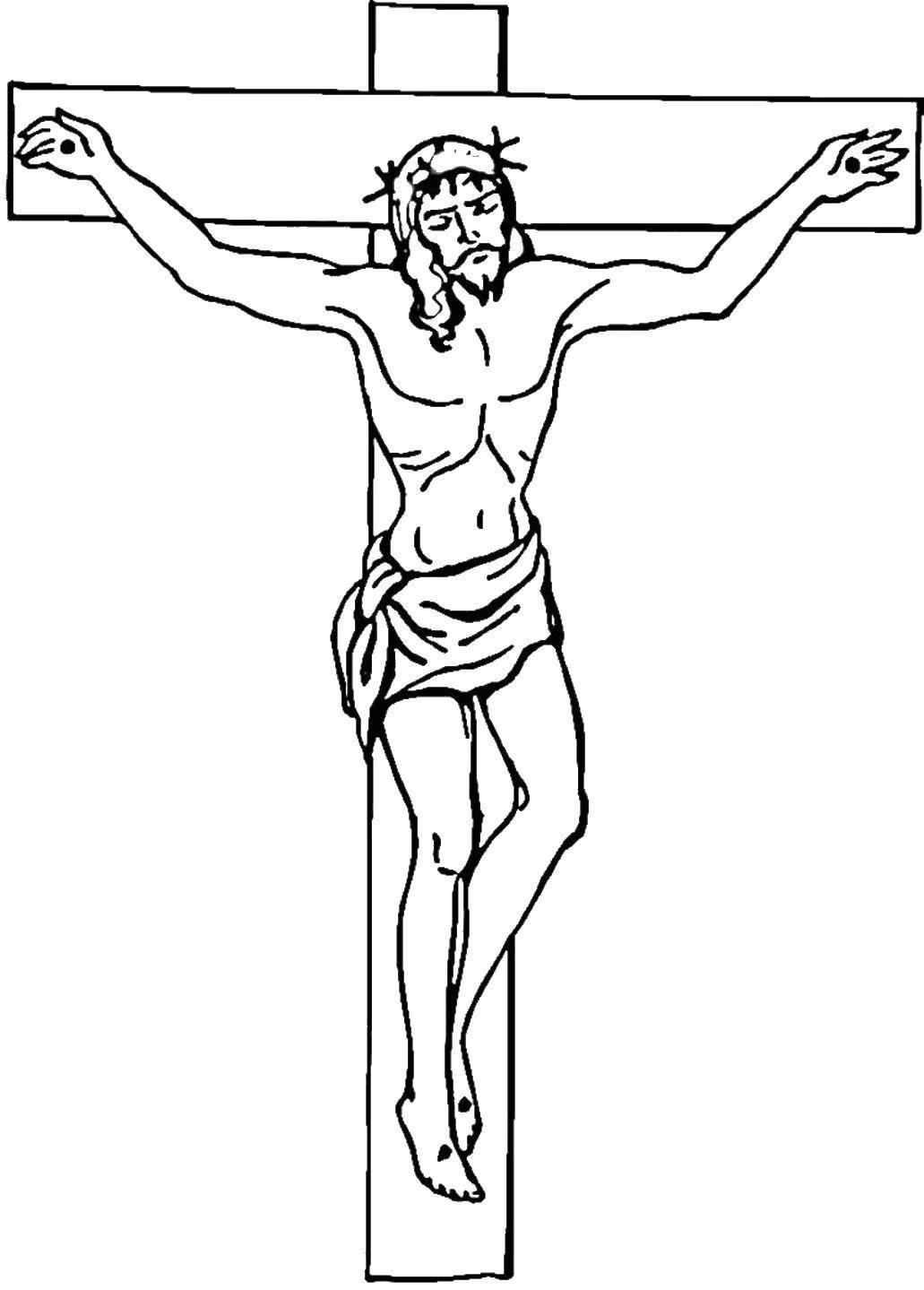 Раскраска Крест Скачать .  Распечатать