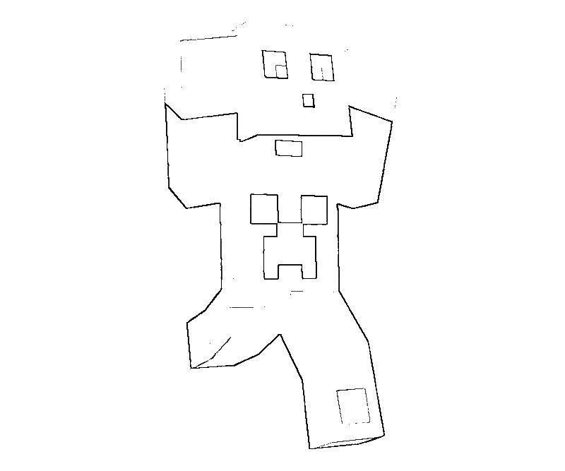 Раскраска Майнкрафт человек бежит Скачать майнкрафт, человек.  Распечатать ,майнкрафт,