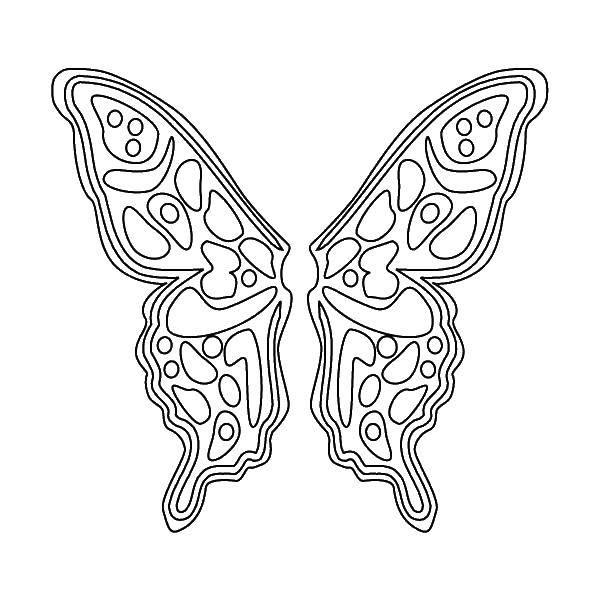 Раскраска Узорчики на крыльях. Скачать крылья, узорчики.  Распечатать ,раскраски,