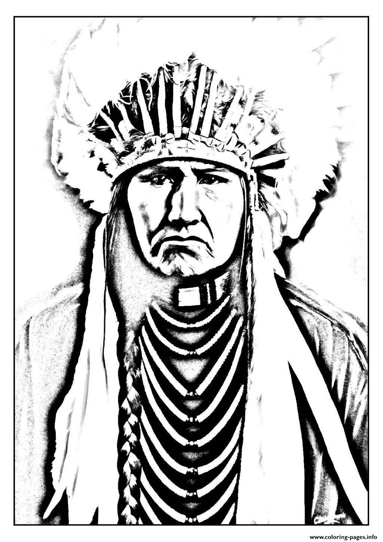 Раскраска Инде́йцы общее название коренного населения америки Скачать Индейцы, .  Распечатать ,индейцы,