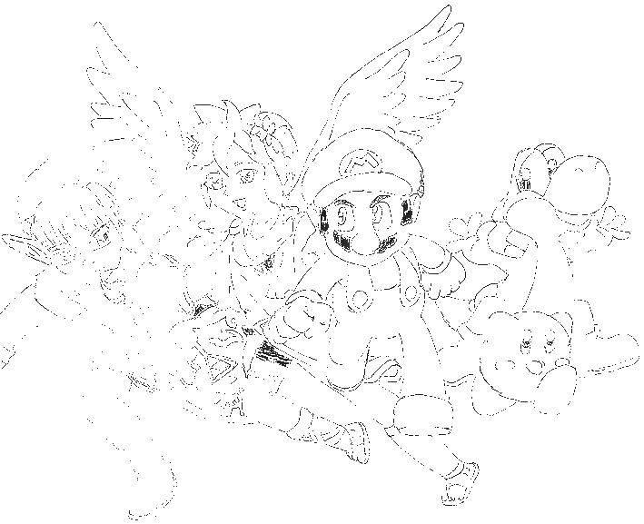 Раскраска Персонажи кирби Скачать Кирби, игра.  Распечатать ,Кирби,