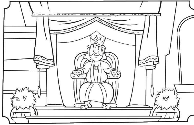 Раскраска Король Скачать ,король,.  Распечатать