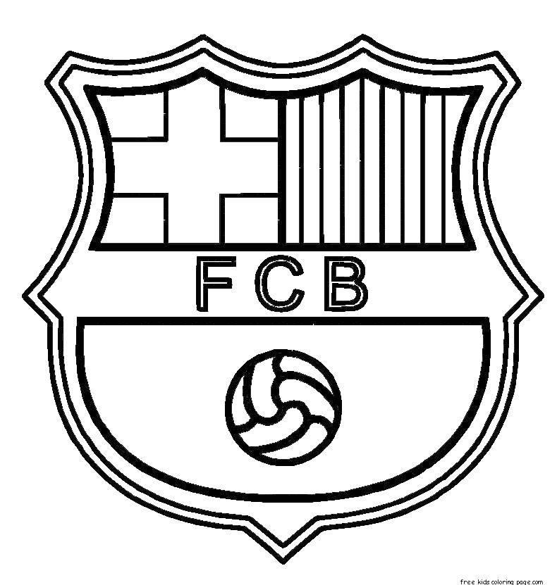 Раскраска Клуб барселона Скачать Спорт, футбол, мяч, игра.  Распечатать ,Футбол,