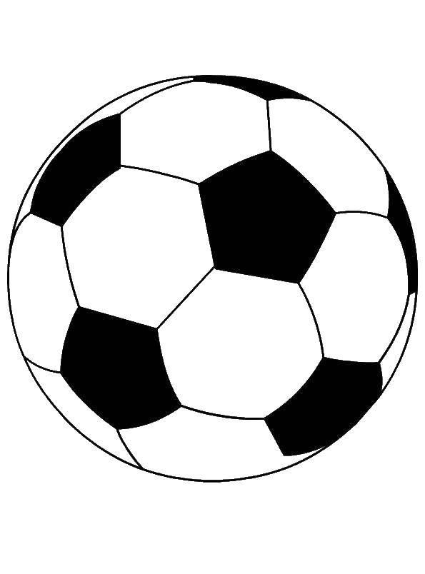 Раскраска Мяч для игры в футбол Скачать футбол.  Распечатать ,Футбол,