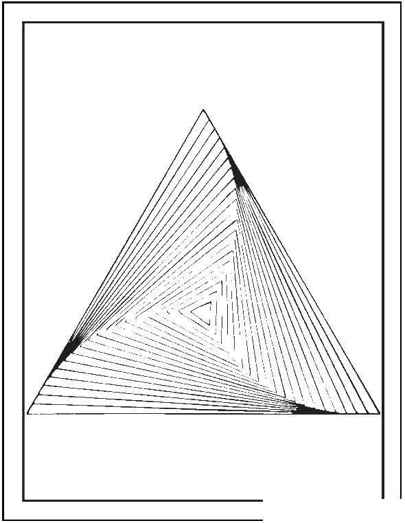 Раскраска С геометрическими фигурами Скачать мультфильмы, кирби.  Распечатать