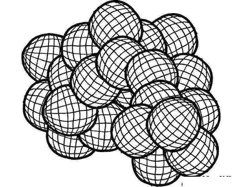 Раскраска Шарики геометрические фигуры Скачать С геометрическими фигурами.  Распечатать ,С геометрическими фигурами,