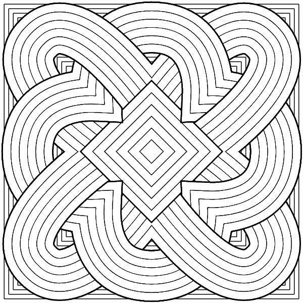 Раскраска Сложные линий и узоры Скачать Сложный дизайн, узоры.  Распечатать ,Сложный дизайн,