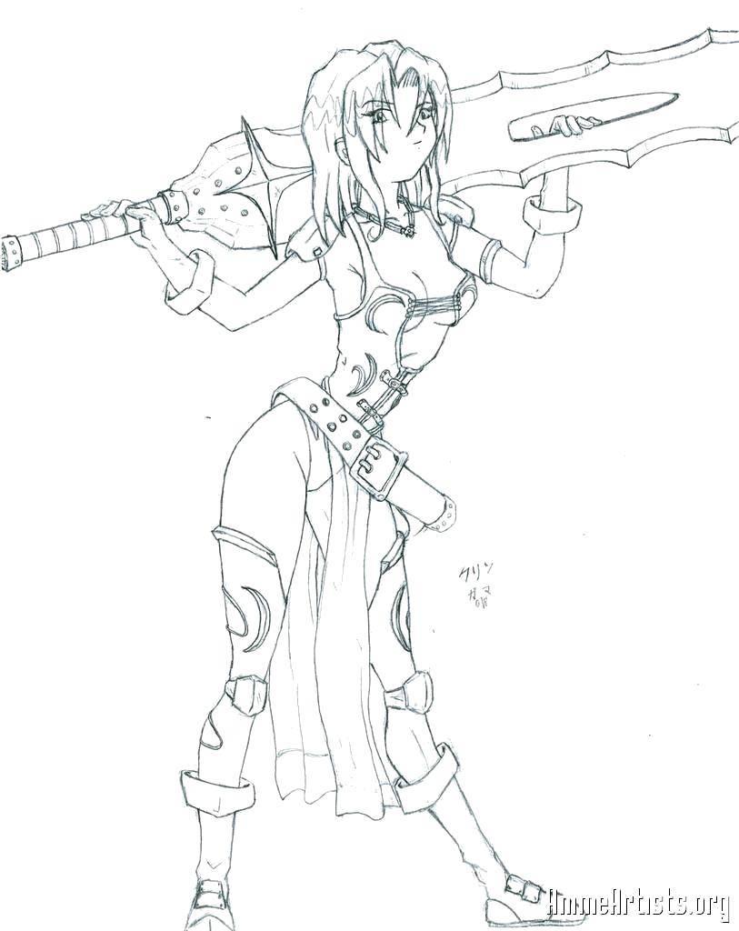 Название: Раскраска Девушка с огромным мечом. Категория: Вампирши. Теги: Вампиры.