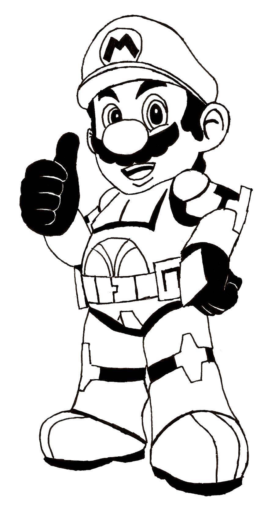 Раскраска Марио Скачать марио, игры, персонажи, супер марио.  Распечатать ,марио,