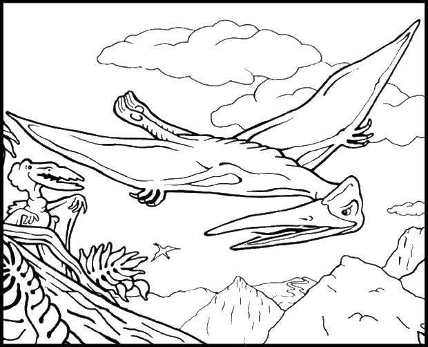 Раскраска динозавр Скачать поросенок, волк.  Распечатать ,три поросенка,