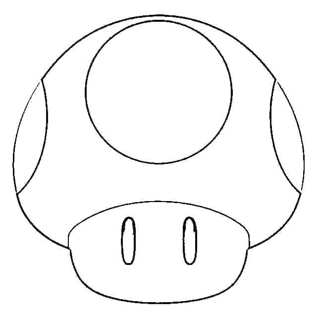 Раскраска Шляпка гриба. Скачать грибы, растения.  Распечатать ,грибы,